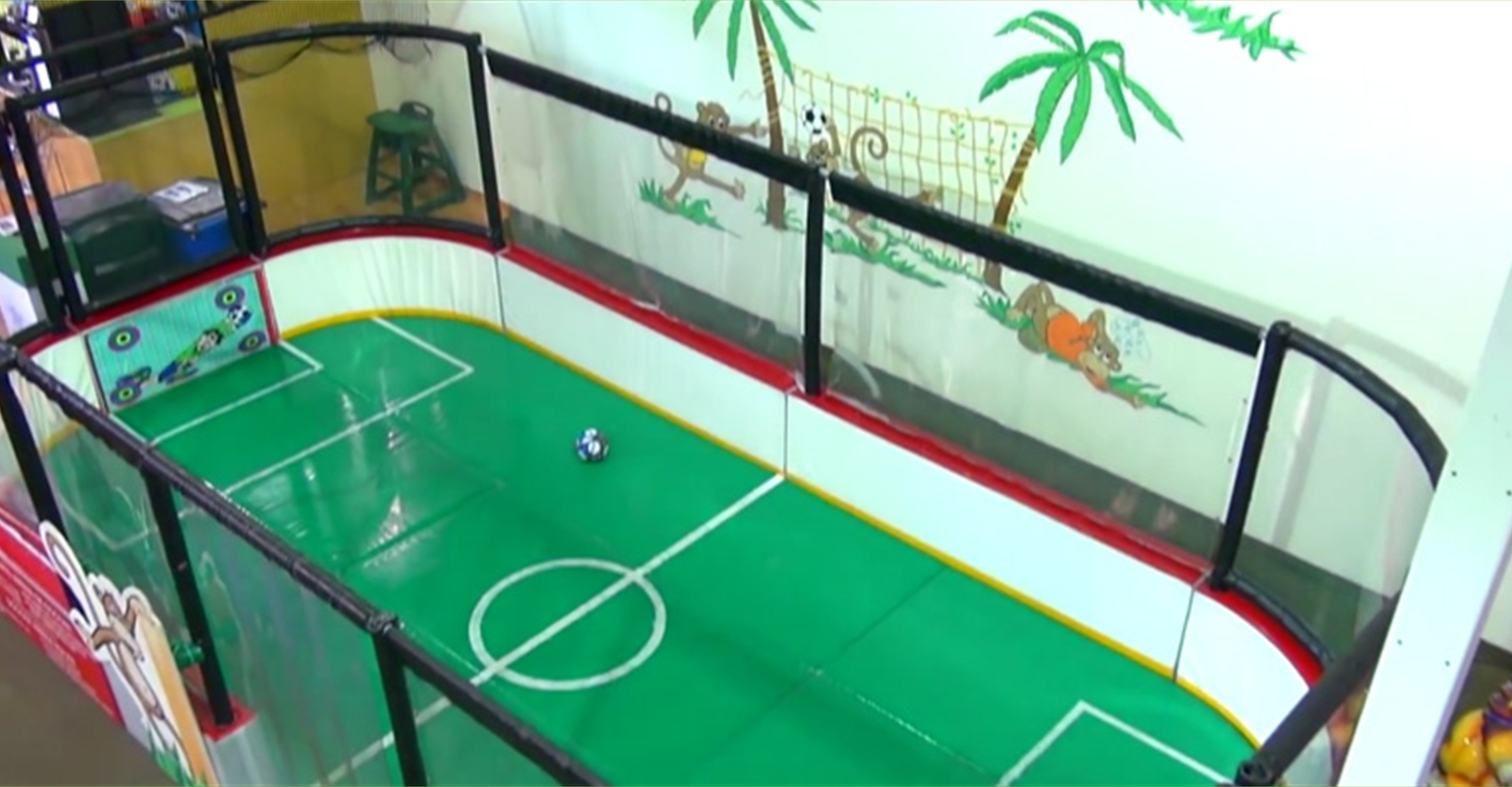 A mini soccer arena for younger children